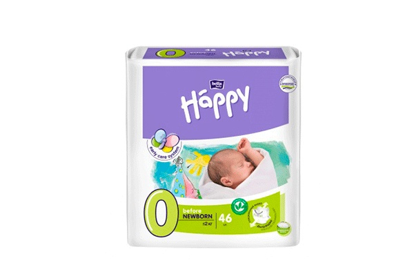 Happy Before Newborn-0 до 2 кг, 46 шт
