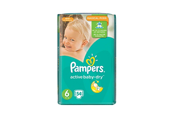 Pampers Active Baby-Dry Extra Large-6 16+ ��, 54 ��