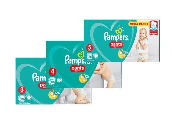 Трусики Pampers Pants, коробка
