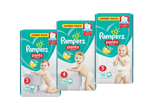 Трусики Pampers Pants, мягкая упаковка