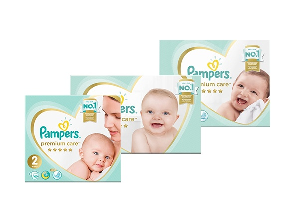 Pampers Premium Care, коробка