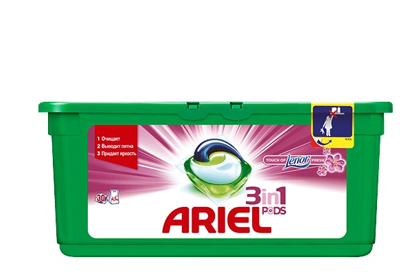 Karlson.by - Капсулы для стирки: Ariel Pods Touch of Lenor Fresh 3в1, 30 шт по 28.8 гр