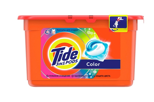 Karlson.by - Капсулы для стирки: Tide Pods Color, 12 шт по 24.8 гр