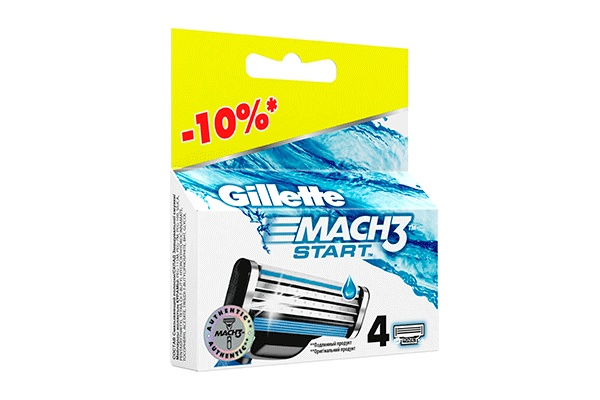 Gillette Mach3 Start, 4 шт