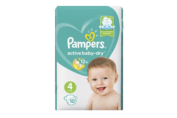 Karlson.by - Подгузники: Pampers Active Baby-Dry-4 9-14 кг, 10 шт