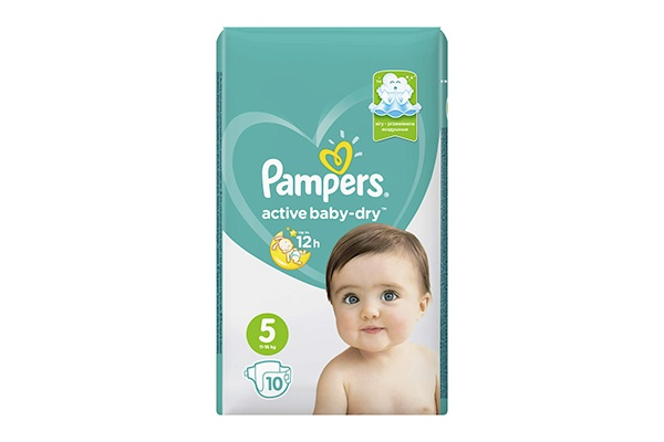 Karlson.by - Подгузники: Pampers Active Baby-Dry-5 11-16 кг, 10 шт