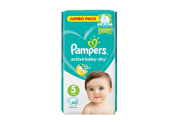 Karlson.by - Подгузники: Pampers Active Baby-Dry-5 11-16 кг, 60 шт