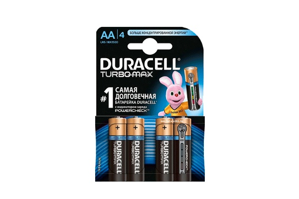 Karlson.by - Батарейки пальчиковые: Duracell Turbomax AA, 4 шт
