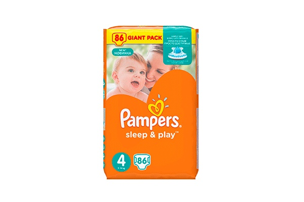Karlson.by - Подгузники: Pampers Sleep&Play-4 9-14 кг, 86 шт
