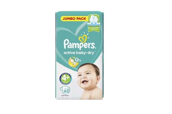 Karlson.by - Подгузники: Pampers Active Baby-Dry-4+ 9-16 кг, 62 шт