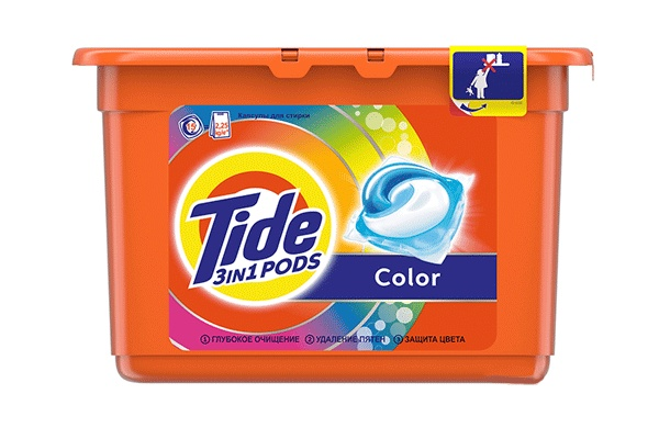 Karlson.by - Капсулы для стирки: Tide Pods Color, 15 шт по 24.8 гр