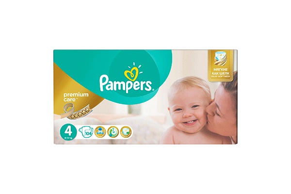 Karlson.by - Подгузники: Pampers Premium Care Maxi-4 8-14 кг, 104 шт