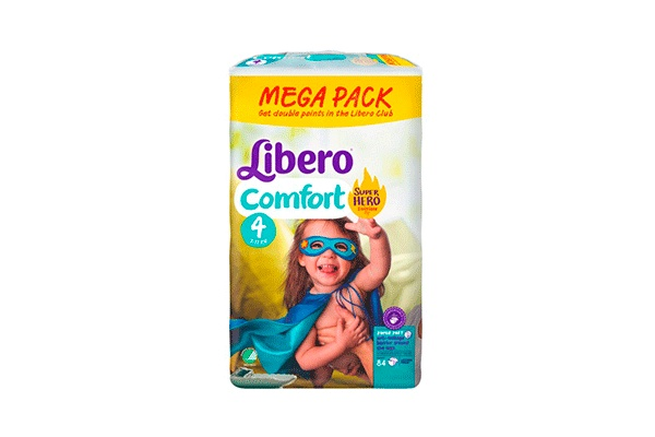 Karlson.by - Подгузники: Libero Comfort-4 Hero Collection 7-11 кг, 84 шт