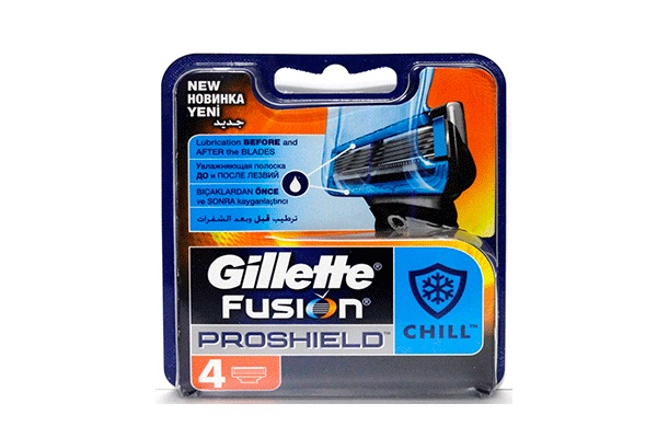 Gillette Fusion ProShield Chill, 4 шт