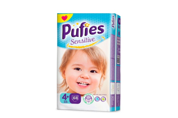 Karlson.by - Подгузники: Pufies Sensitive MaxiPlus-4+ 9-16 кг, 68 шт