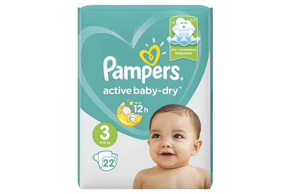 Karlson.by - Подгузники: Pampers Active Baby-Dry-3 6-10 кг, 22 шт