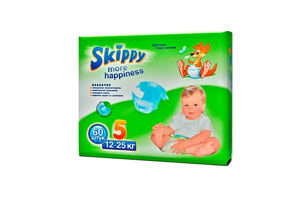 Karlson.by - Подгузники: Skippy More Happiness-5 12-25 кг, 60 шт
