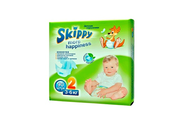Karlson.by - Подгузники: Skippy More Happiness-2 3-6 кг, 90 шт