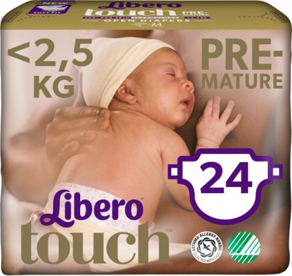 Karlson.by - : Libero Touch 0 Pre-mature (<2кг) 24шт