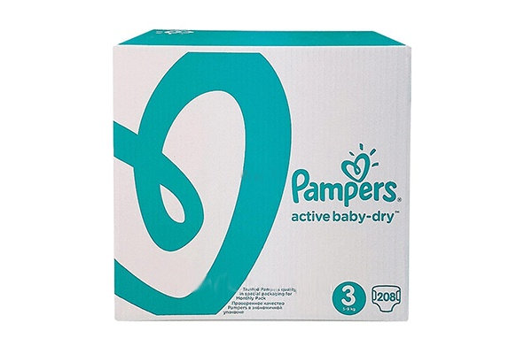 Karlson.by - Подгузники: Pampers Active Baby-Dry-3 6-10 кг, 208 шт