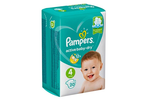 Karlson.by - Подгузники: Pampers Active Baby-Dry-4 9-14 кг, 20 шт