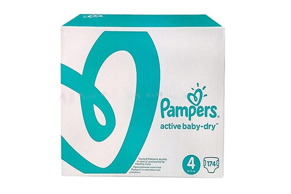 Karlson.by - Подгузники: Pampers Active Baby-Dry-4 9-14 кг, 174 шт