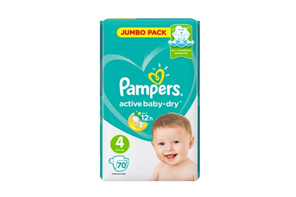 Karlson.by - Подгузники: Pampers Active Baby-Dry-4 9-14 кг, 70 шт