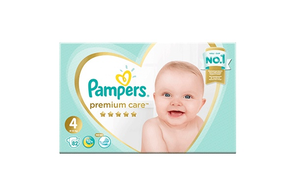 Karlson.by - Подгузники: Pampers Premium Care-4 9-14 кг, 82 шт