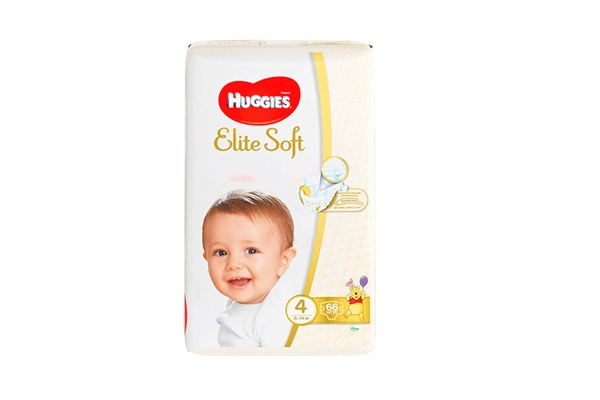 Karlson.by - Подгузники: Huggies Elite Soft-4 8-14 кг, 66 шт
