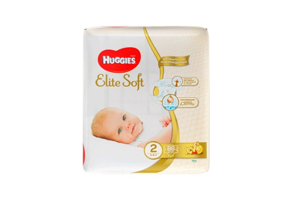 Karlson.by - Подгузники: Huggies Elite Soft-2 3-6 кг, 88 шт