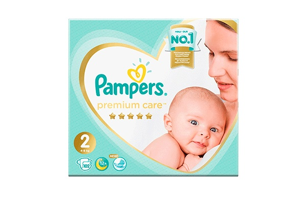 Karlson.by - Подгузники: Pampers Premium Care-2 4-8 кг, 102 шт