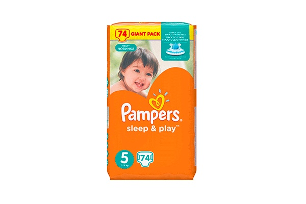 Karlson.by - Подгузники: Pampers Sleep&Play-5 11-16 кг, 74 шт