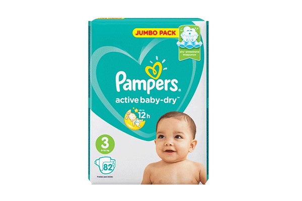 Karlson.by - Подгузники: Pampers Active Baby-Dry-3 6-10 кг, 82 шт