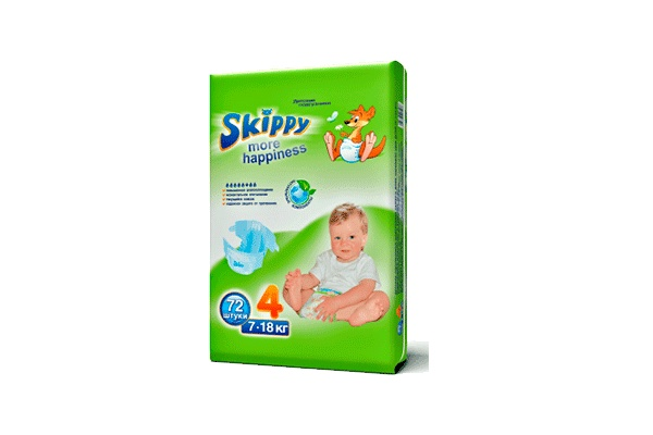 Karlson.by - Подгузники: Skippy More Happiness-4 7-18 кг, 72 шт