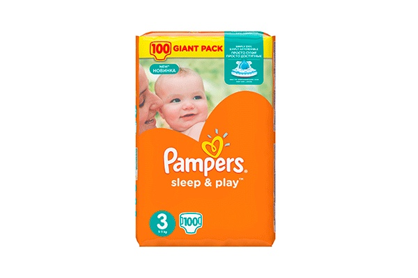 Karlson.by - Подгузники: Pampers Sleep&Play-3 6-10 кг, 100 шт