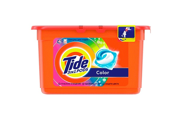 Karlson.by - Капсулы для стирки: Tide Pods Color, 23 шт по 24.8 гр