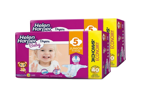 Karlson.by - Подгузники: Helen Harper Baby Junior-5 11-18 кг, 2х40 = 80 шт