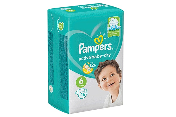 Karlson.by - Подгузники: Pampers Active Baby-Dry-6 13-18 кг, 16 шт