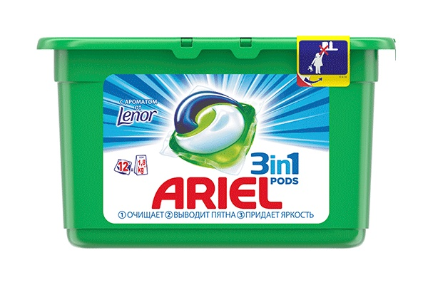 Karlson.by - Капсулы для стирки: Ariel Pods Touch of Lenor Fresh 3в1, 12 шт по 27 гр