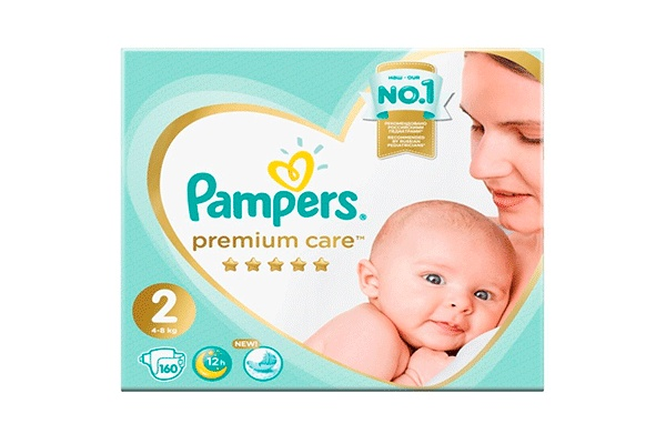 Pampers Premium Care-2 4-8 кг, 160 шт