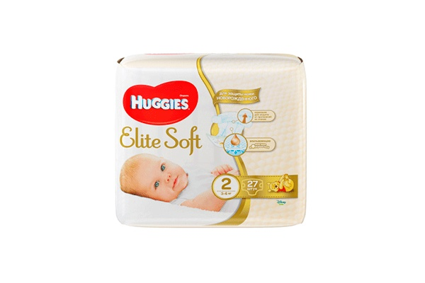 Karlson.by - Подгузники: Huggies Elite Soft-2 3-6 кг, 27 шт