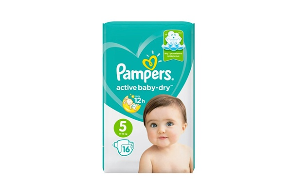 Karlson.by - Подгузники: Pampers Active Baby-Dry-5 11-18 кг, 16 шт