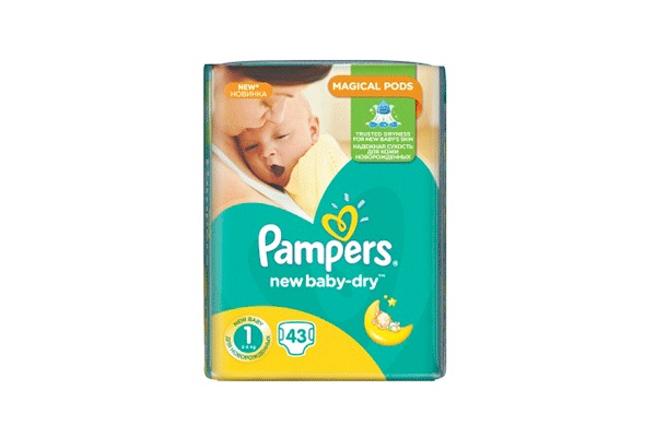 Karlson.by - Подгузники: Pampers New Baby-Dry-1 2-5 кг, 43 шт