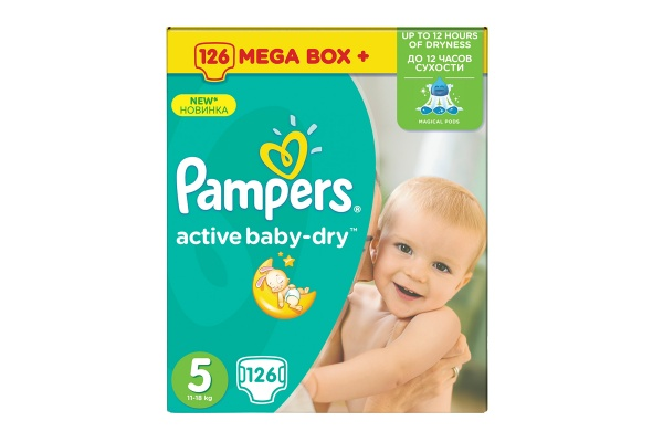 Karlson.by - Подгузники: Pampers Active Baby-Dry-5 11-16 кг, 126 шт