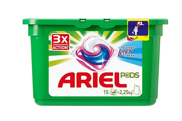 Karlson.by - Капсулы для стирки: Ariel Pods Touch of Lenor Fresh 3в1, 15 шт по 27 гр